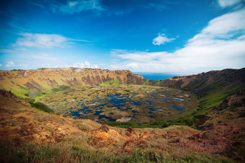Easter Island Rano Kau volcano